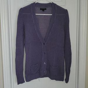 Banana Republic EUC Linen & Cotton Purple Cardigan